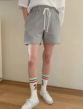 韓國空運 - Whatchu Cotton Anorak SET ♥ Ring Zip Hood T + Banding Shorts Set Product: D 套裝