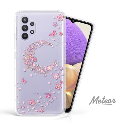 Meteor Samsung Galaxy A32 奧地利水鑽殼 - 櫻月