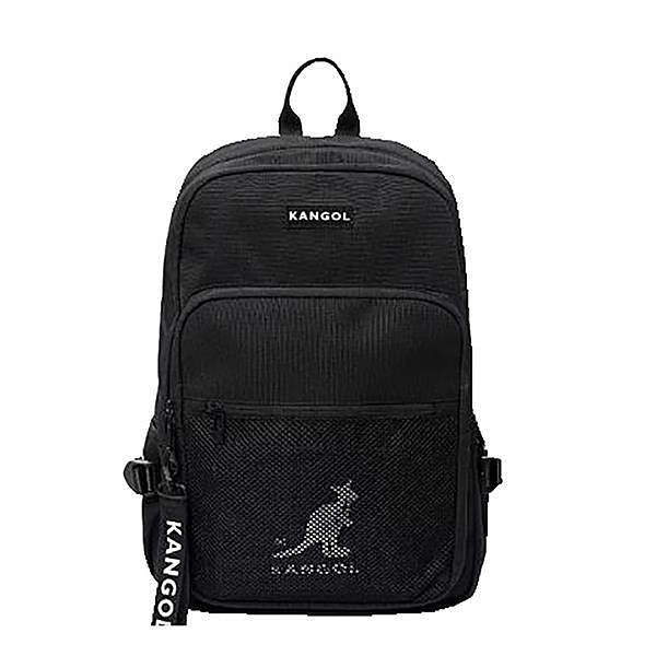 【南紡購物中心】~雪黛屋~KANGOL 後背包大容量可A4資夾電腦主袋+外袋共三層進口防水尼龍布