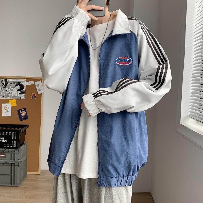 Tbag男外套 男士港風原宿風潮牌男生棒球服秋季韓版嘻哈潮流寬松夾克外套
