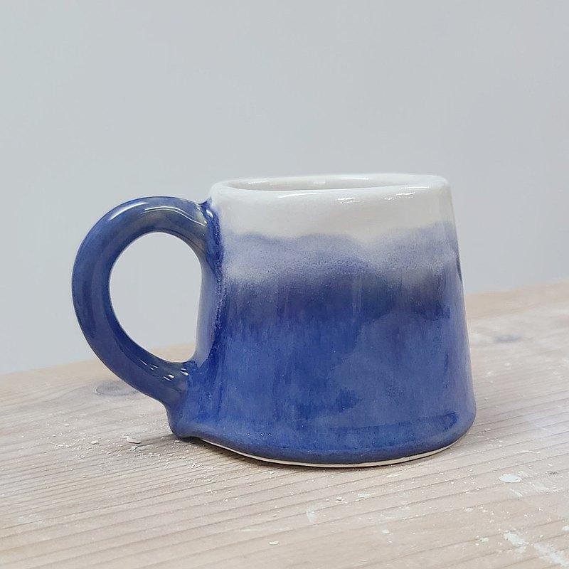 藍色富士山濃縮咖啡杯 No.3 瑕疵品