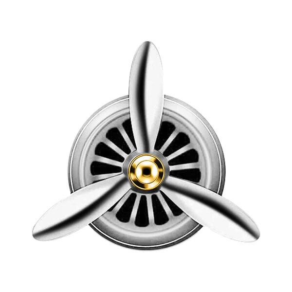 車內芳香劑   七彩炫光金屬殼b2空軍三號汽車用空調香水 車載出風口香膏 螺旋槳風扇 轟炸機括香器
