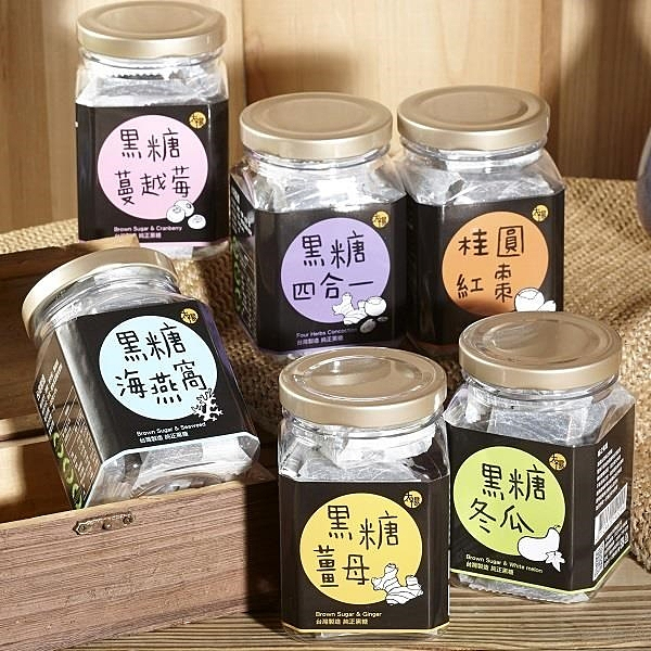 【南紡購物中心】【太禓食品】純正台灣頂級黑糖茶磚(六種口味任選1入) (180g/罐)