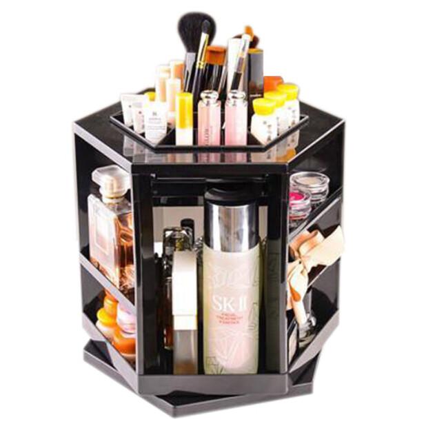第三代化妝盒 360度旋轉 不須組裝 化妝品保養品 收納盒