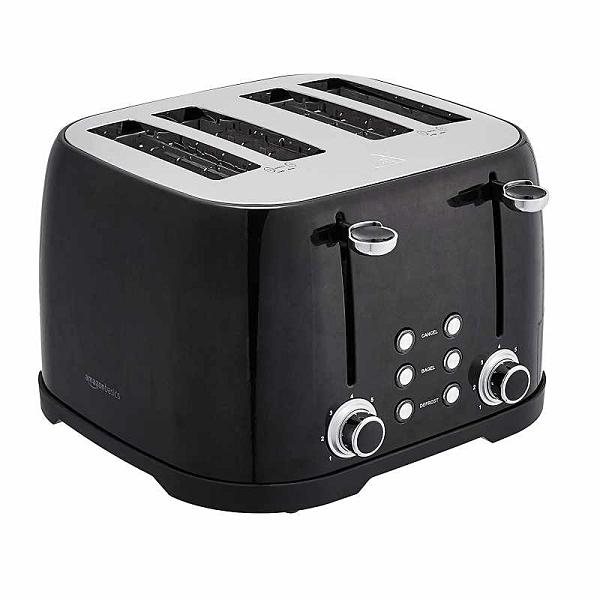Amazon Basics 4片式 烤麵包機 TA5728C Toaster 黑/銀/白 [2美國直購]