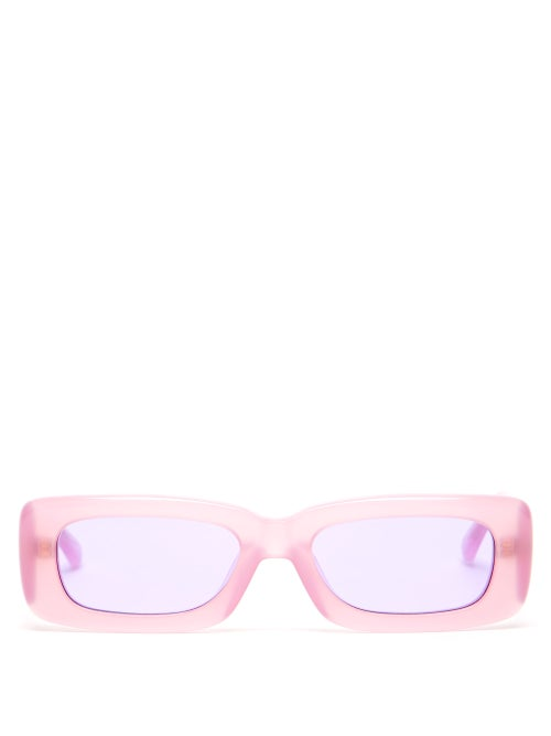 Linda Farrow - X The Attico Mini Marfa Acetate Sunglasses - Womens - Pink