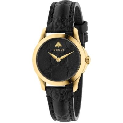 GUCCI G-TIMELESS獨特時尚皮帶腕錶28mm(YA126581)