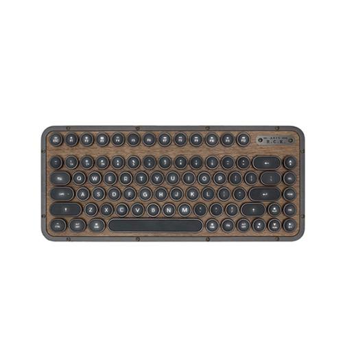 AZIO Retro R.C.K. ELWOOD核桃木短版藍牙復古鍵盤中文白光 硬派精璽