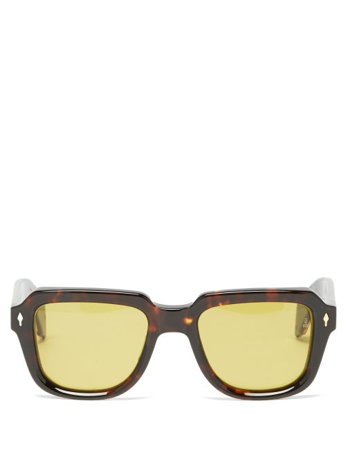 Jacques Marie Mage - Taos Square Acetate Sunglasses - Mens - Tortoiseshell