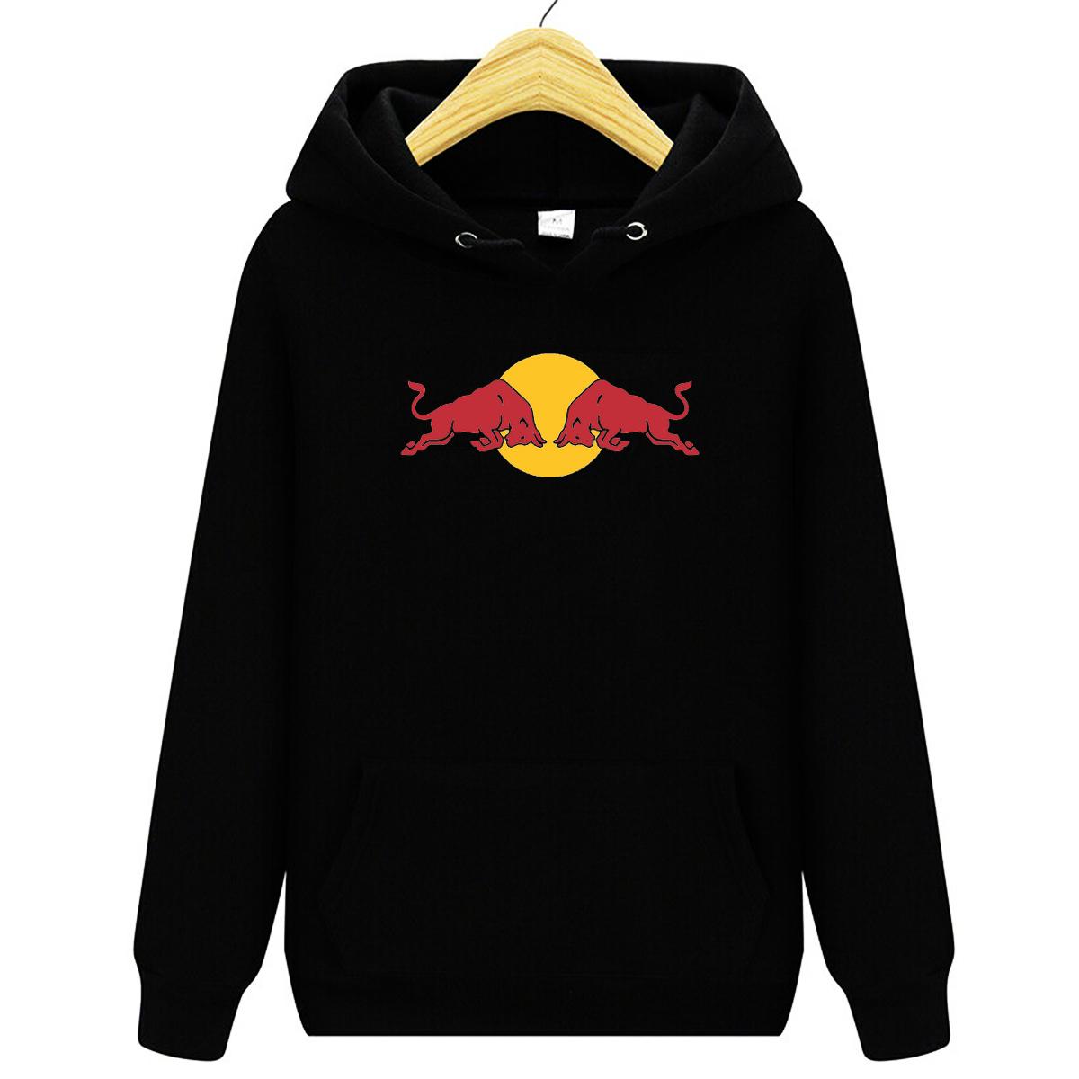 紅牛 Red Bull 男士衛衣,連帽衫,長袖T恤,套頭衫,男士純棉外套,秋冬季時尚休閒風衣 -H91