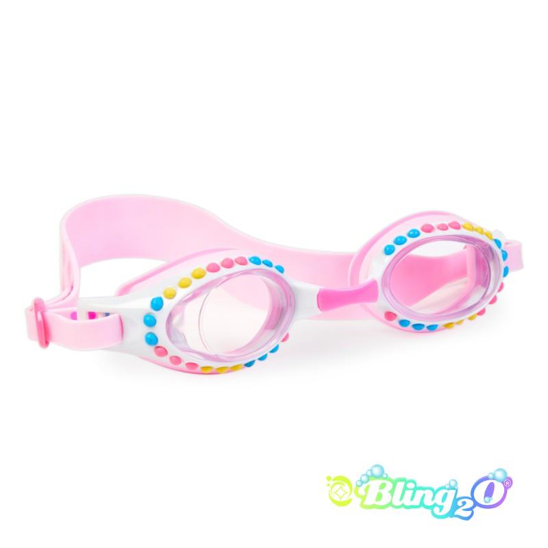 兒童泳鏡 糖果點點系列-粉紅色 ⎜Bling2o 外殼瑕疵商品
