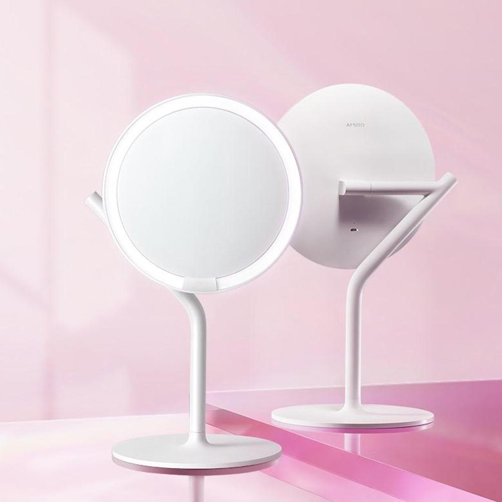 AMIRO Mini 2.0 高清日光 LED 化妝鏡(小魔鏡) - 輕簡白