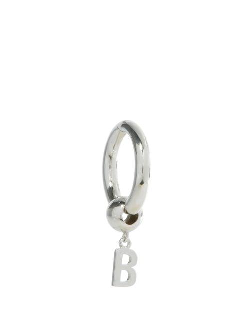 Balenciaga - Force B Sterling-silver Single Earring - Mens - Silver
