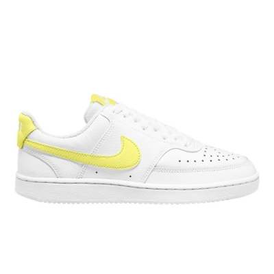 NIKE 休閒鞋 皮革 運動鞋 女鞋 白黃 CD5434-109 WMNS COURT VISION LOW