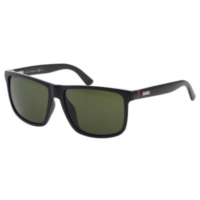 GUCCI太陽眼鏡 經典紅綠腳 中性(黑色)