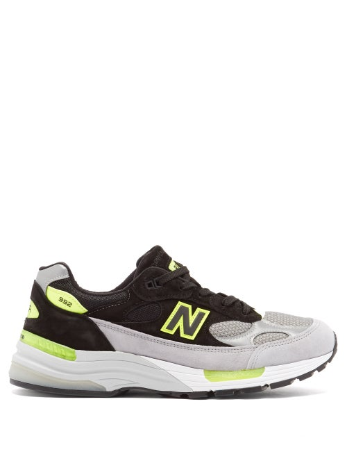 New Balance - 992 Suede-panel Mesh Running Trainers - Mens - Grey Multi