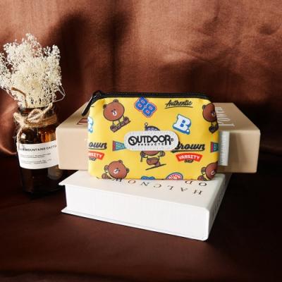 【OUTDOOR】LINE聯名款-校隊熊大卡片零錢包-黃色 ODBF20A05YL