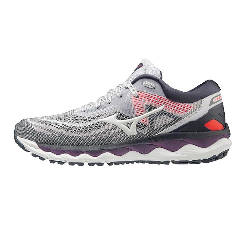 MIZUNO WAVE SKY 4 WIDE 美津濃 女跑步鞋 J1GD201242 灰