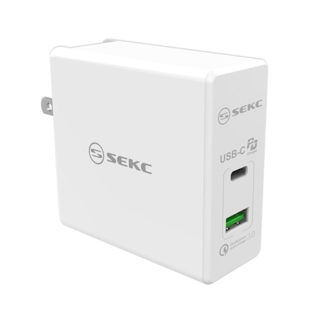 SEKC USB-C+QC3.0 60W 急速充電器 (SPD-602WT)-CHAR441