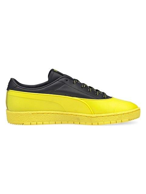 Men's Puma x Maison Kitsuné Leather & Suede Sneakers