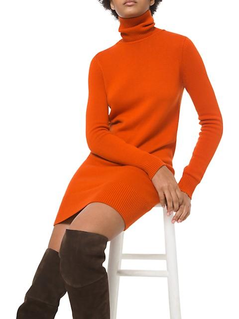 Cashmere Turtleneck Sweater Dress