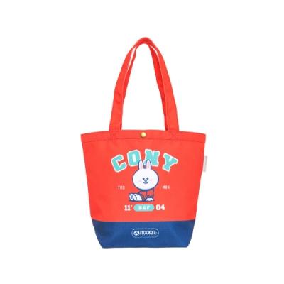 【OUTDOOR】LINE聯名款-校隊兔兔購物袋-紅色 ODBF20B07RD