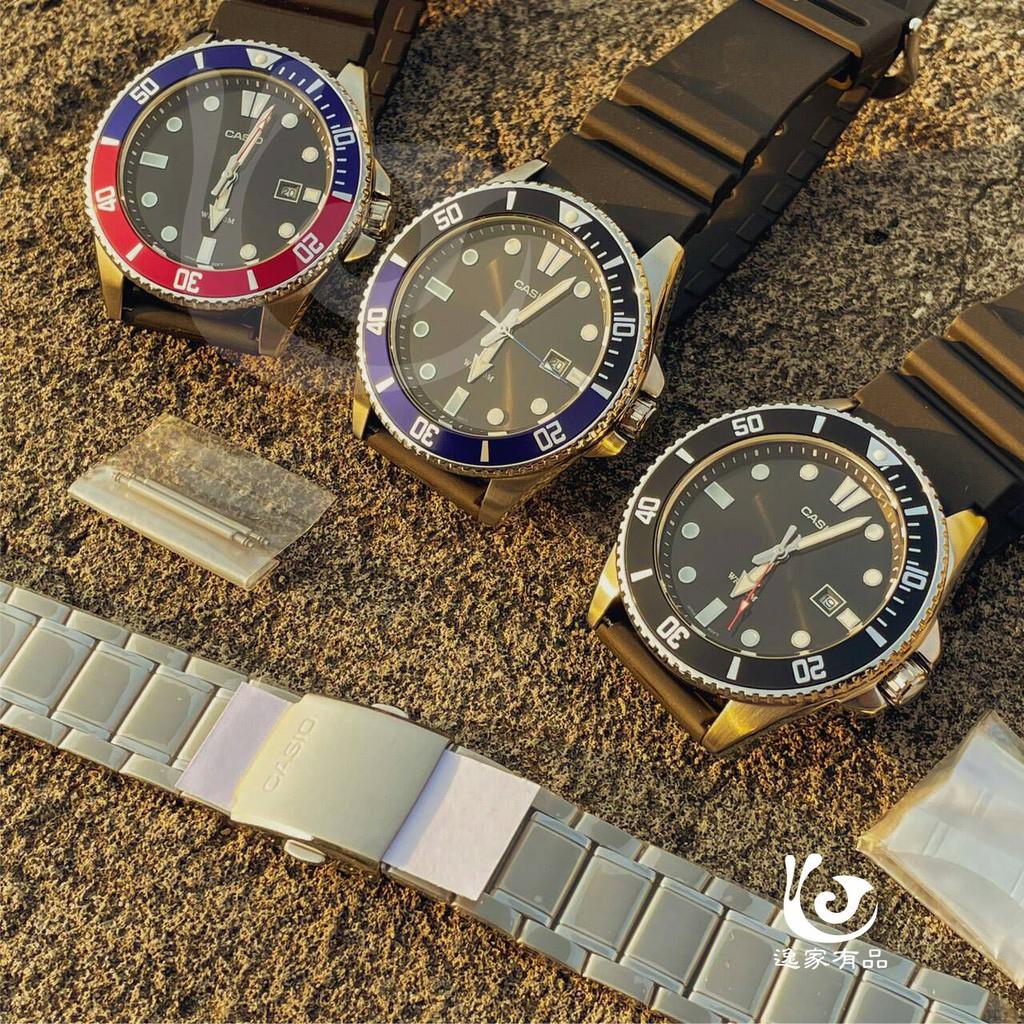 【CASIO】熱銷潛水槍魚MDV-106/MDV-107系列專用原廠不鏽鋼錶帶(現貨不必等 補貨到~)