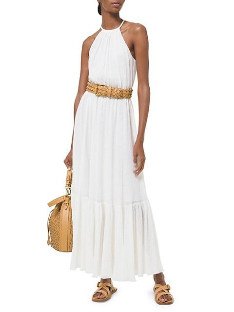 Halter Tiered Maxi Dress