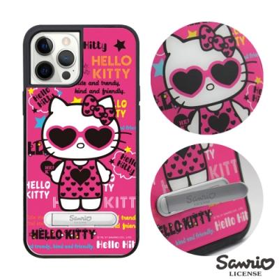 三麗鷗 Kitty iPhone 12 Pro Max 6.7吋減震立架手機殼-POP凱蒂