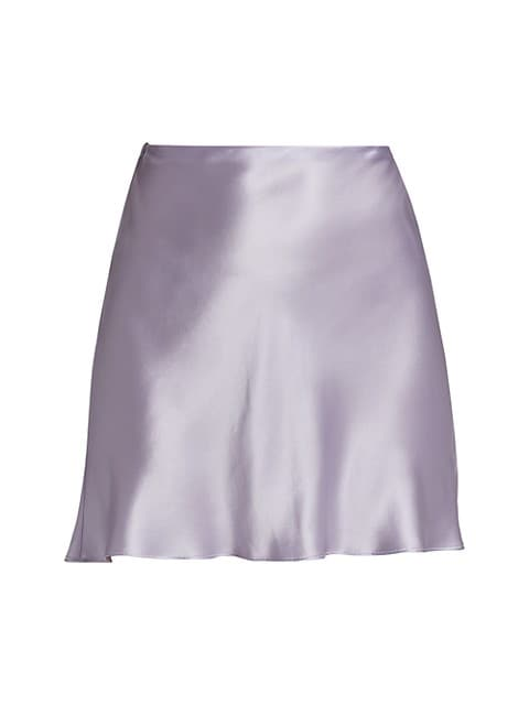 Juniper Mini Silk Skirt