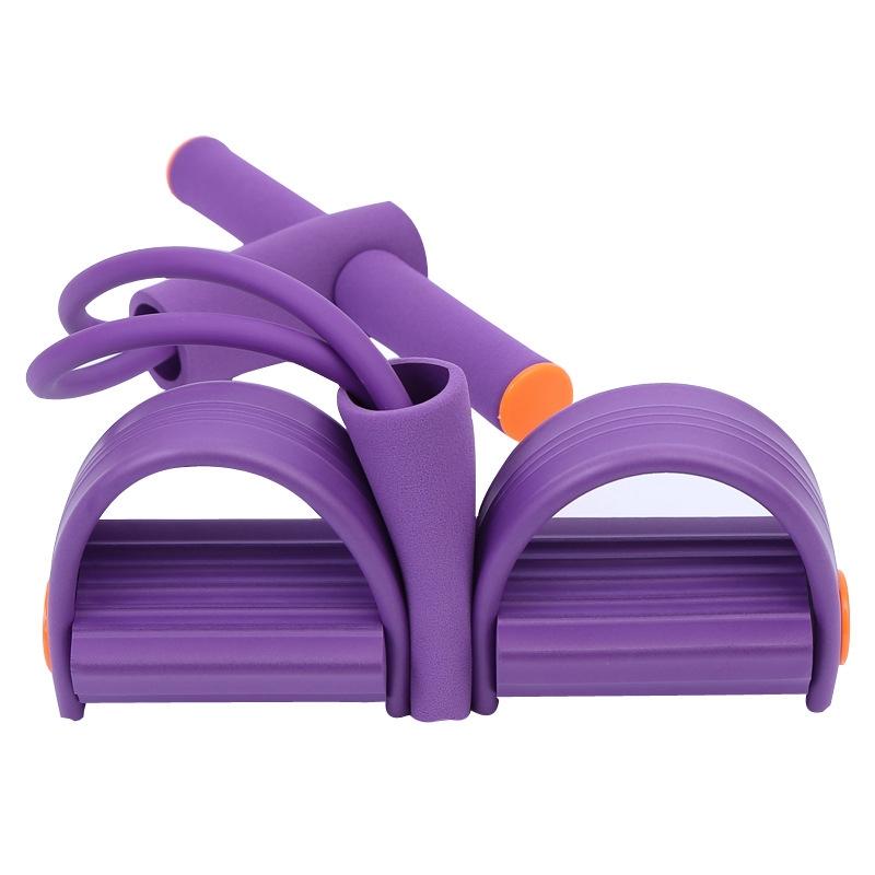 瑜伽 健身腳踏拉力器 四股拉力器 腳蹬腿部彈簧拉力器 仰卧起坐拉力器 瘦腰減肥