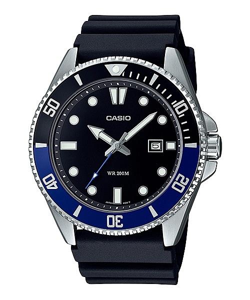 CASIO 卡西歐 槍魚 200米潛水錶 MDV-107-1A2 _黑X藍