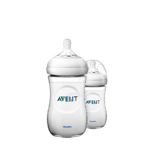 PHILIPS AVENT 親乳感PP防脹氣奶瓶 260ml 雙入組 奶嘴1月+SCF693/23