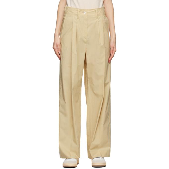 Lanvin 米色 Large 高腰长裤