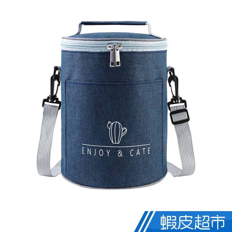大型耐磨圓桶型保溫袋 午餐袋 深藍/黑/灰/酒紅 廠商直送 現貨