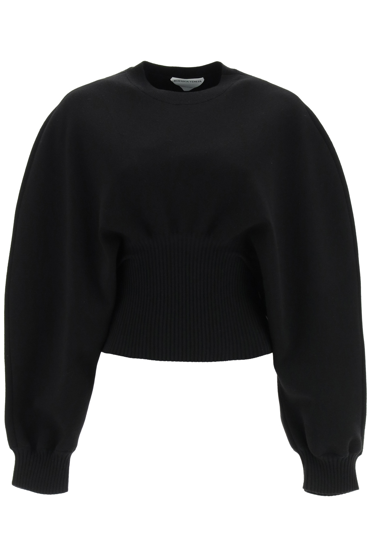 BOTTEGA VENETA BALOON SWEATER IN COMPACT WOOL M Black Wool