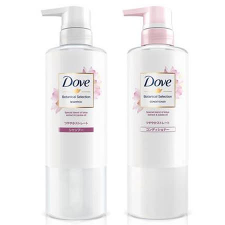 多芬日本植萃柔順保濕洗髮露荷花500ml洗潤組(贈衛生紙)
