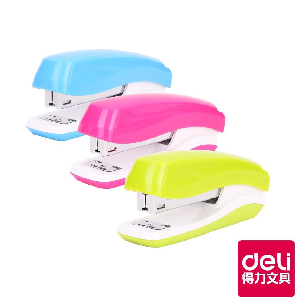 【Deli得力】 釘書機-3號/24/6&26/6-約25張-顏色隨機(0350)|台灣唯一總代理