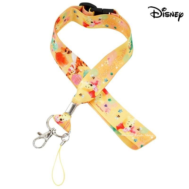 迪士尼【TW SAS日本限定】 小熊維尼家族 好朋友氣球版 掛鉤 手機吊飾 掛繩頸帶 / 證件識別證掛繩