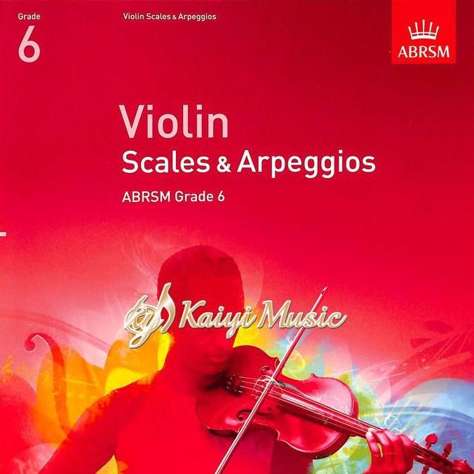 【KaiyiMusic】英國皇家小提琴音階與琶音第6級 Violin Scales&Arpeggios Grade 6
