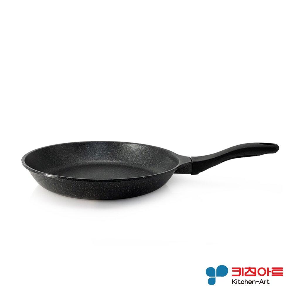 【韓國Kitchen Art】黑鈦原石系列不沾平煎鍋28cm