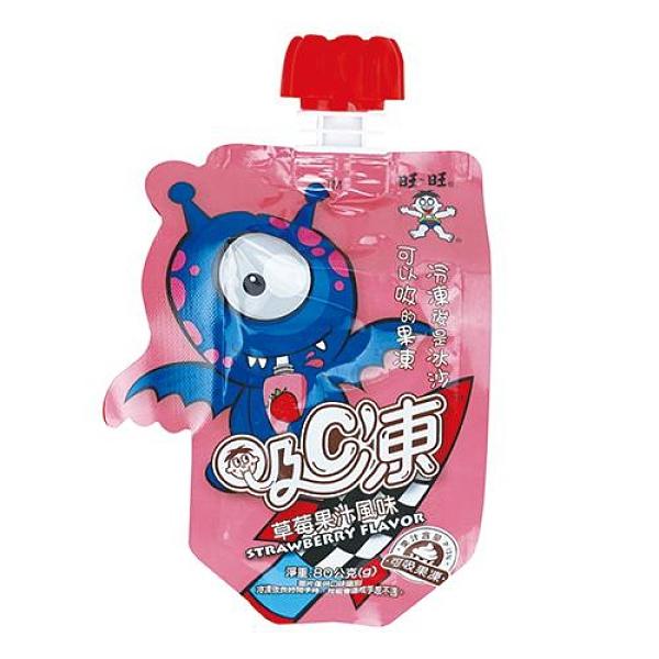 旺旺吸C凍可吸果凍-草莓80g X6【愛買】