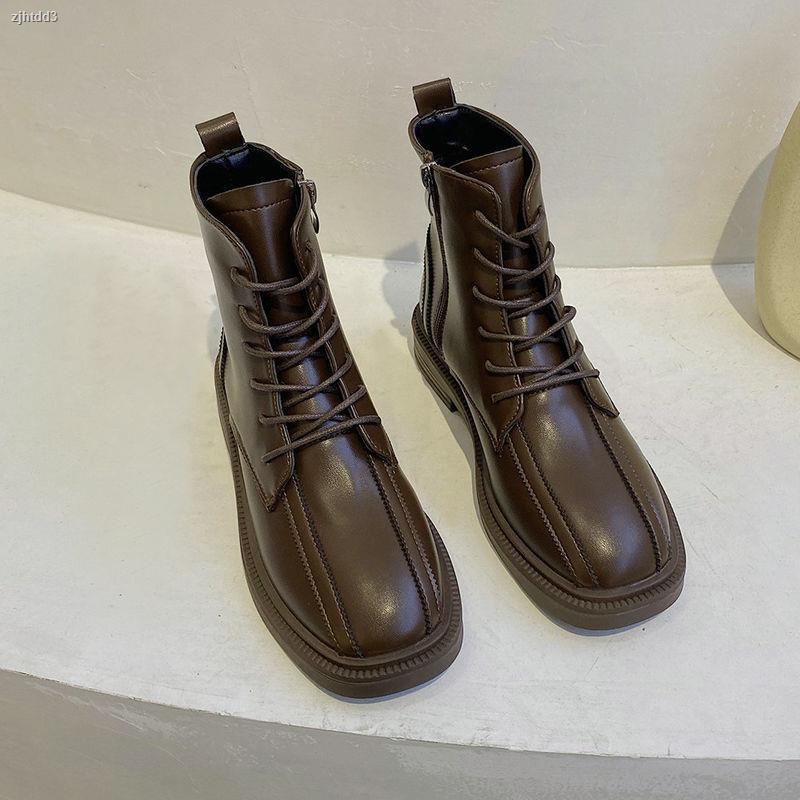 ┅✁馬丁靴女2020冬季新款韓版加絨保暖短靴百搭休閑風軟底黑色機車靴