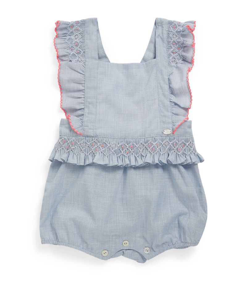 Tartine Et Chocolat Stitch-Detail Playsuit (3-18 Months)