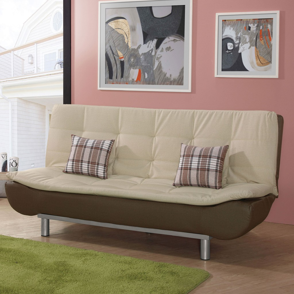 【188cm貓抓皮沙發床-A204-2】 單人座 L型沙發 貓抓皮 布沙發 沙發床 沙發椅 【金滿屋】