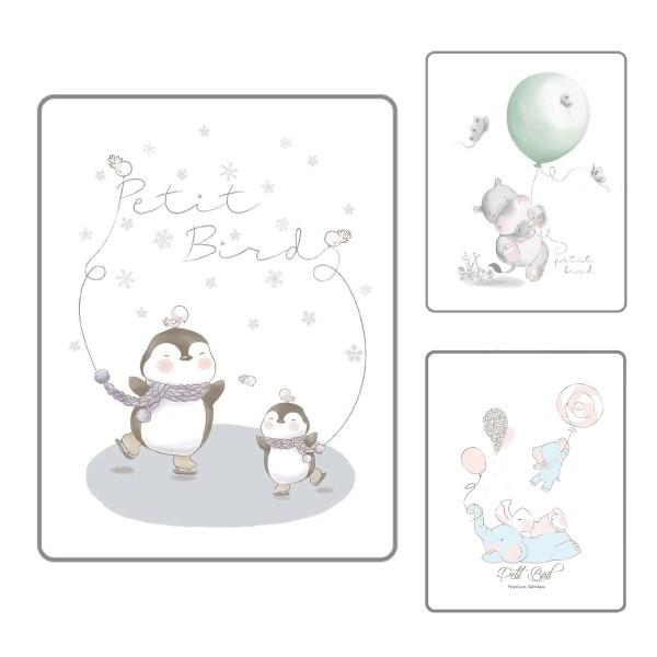 韓國 petit bird 透氣竹纖抗菌防水尿布墊-小(5款可選)【麗兒采家】