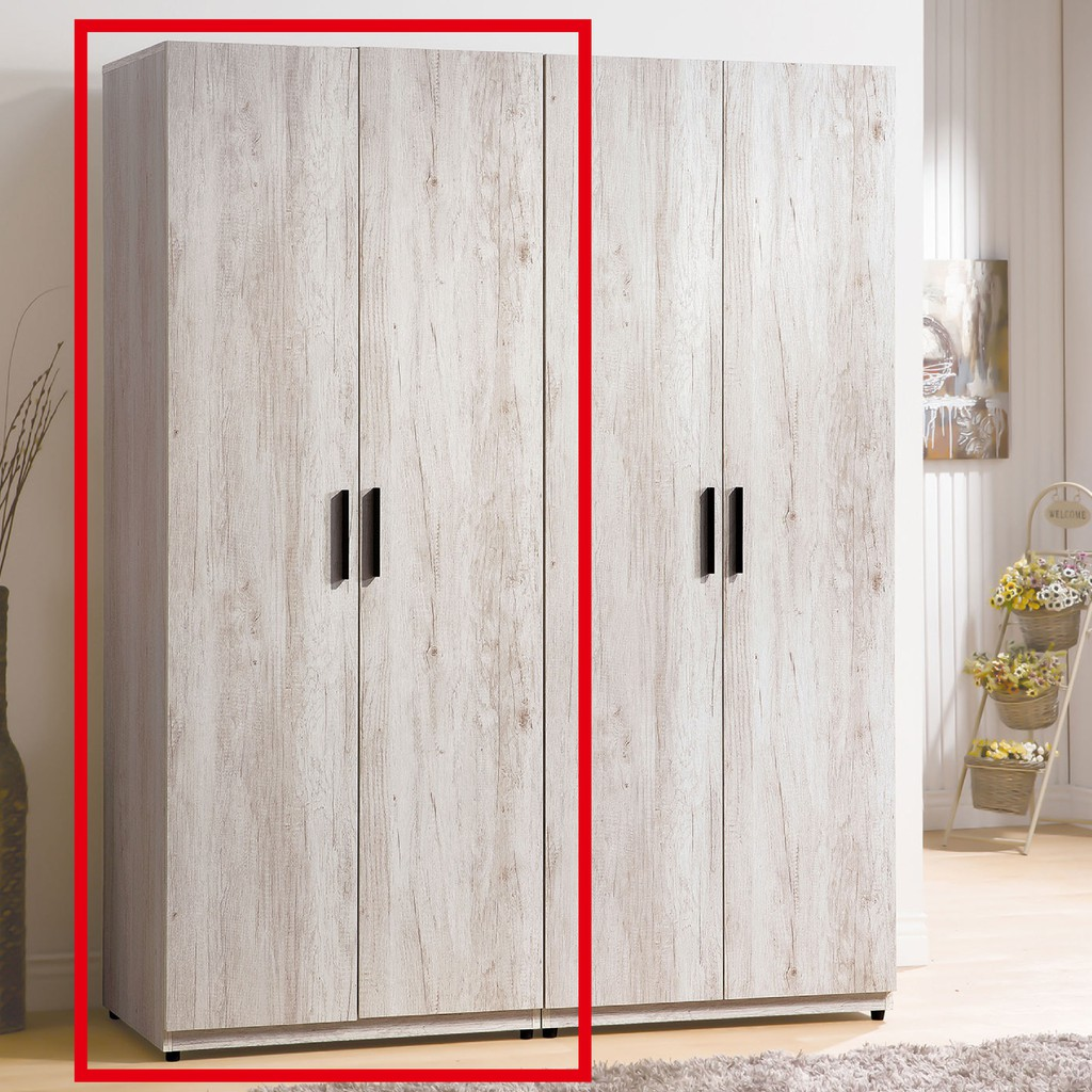 【76cm單吊衣櫃-A014-6】木心板 推門滑門開門 衣服收納 免組裝 【金滿屋】