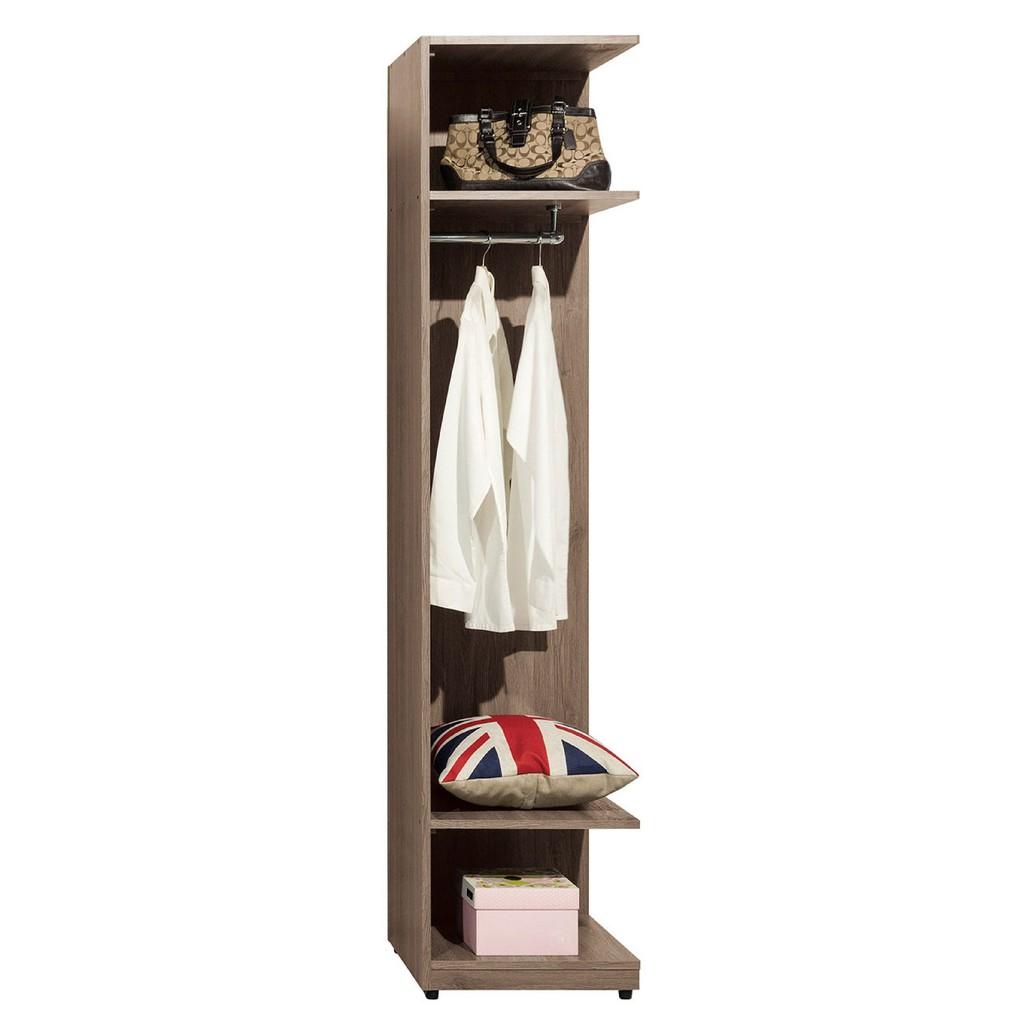 【45cm開放衣櫃-A085-8】木心板 推門滑門開門 衣服收納 免組裝 【金滿屋】