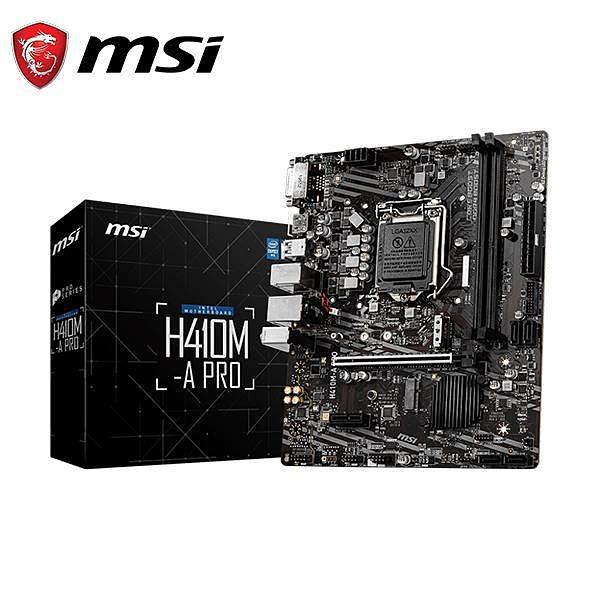 微星MSI H410M-A PRO intel 主機板