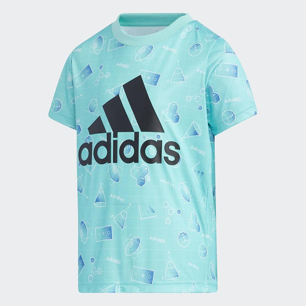 Adidas ESSENTIALS 童裝 短袖 T恤 吸汗快乾 透氣 藍【運動世界】GP0446